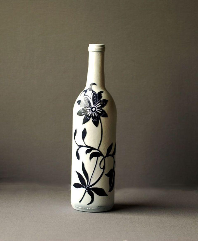 decoupage wine bottle