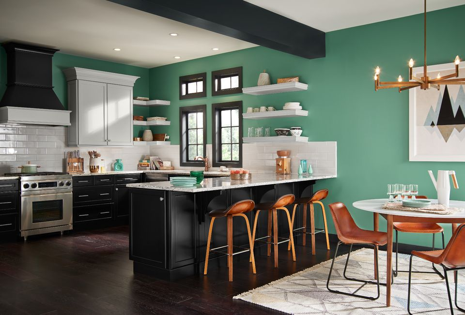 Black and White Kitchen Ideas - Behr 2017 Colors