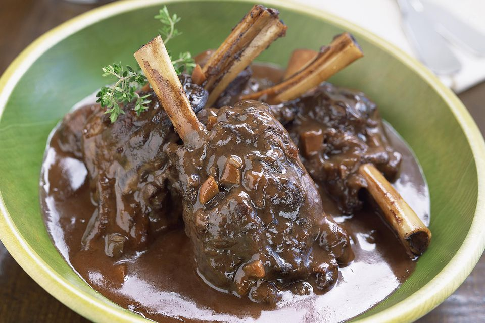Braised lamb shanks recipe