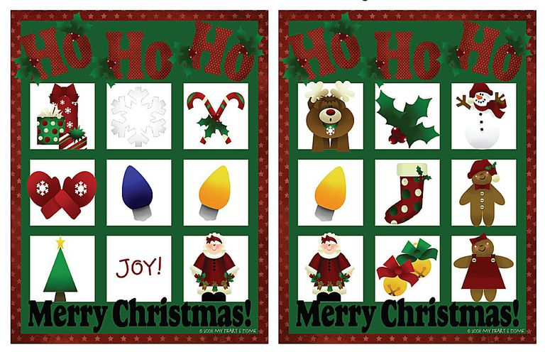 11 free printable christmas bingo games for the family four free christmas bingo games at prepared not scared stopboris Choice Image