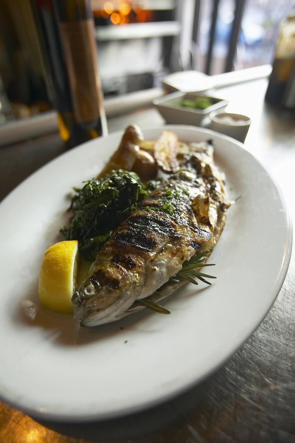 Grilled Trout Florentine