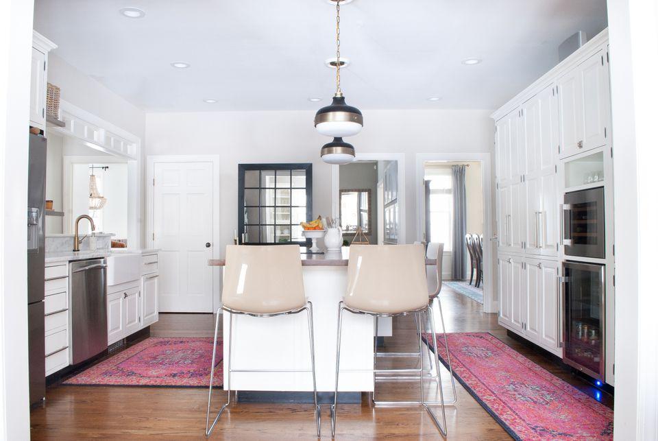 rug in a kitchen