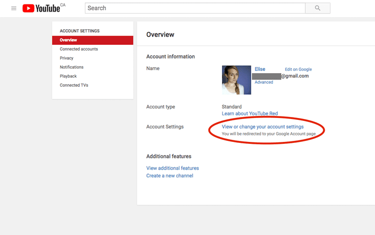 How to delete a youtube account access your google account settings from youtube ccuart Images