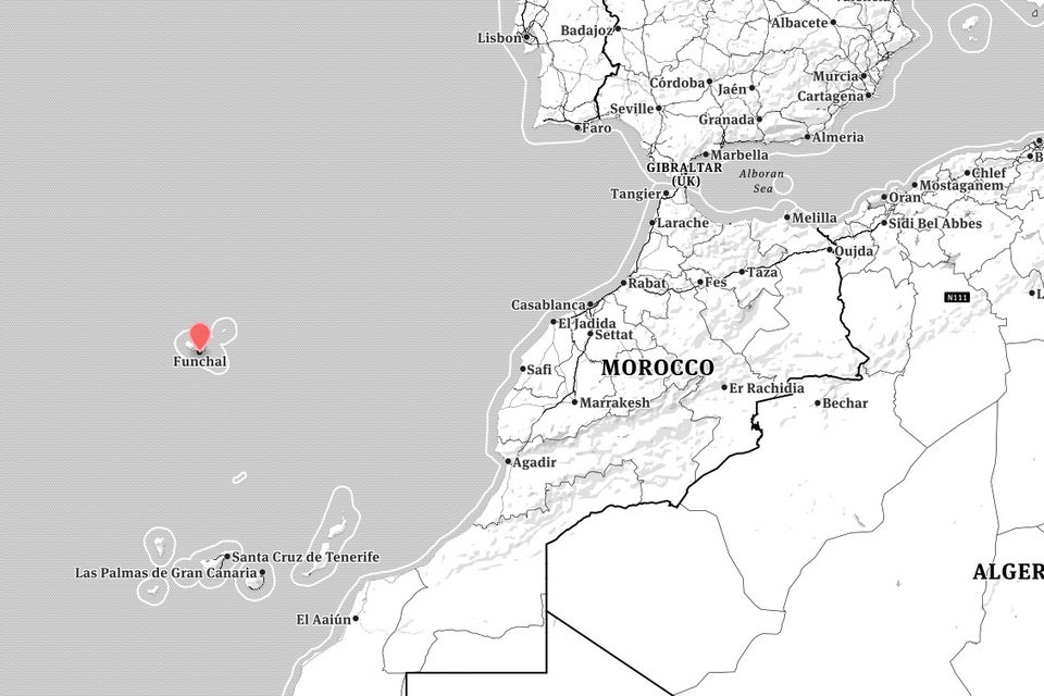 madeira location map