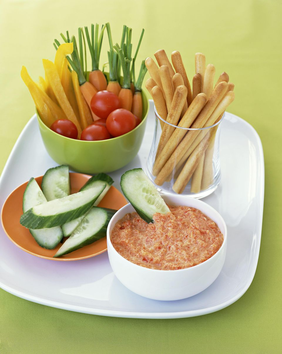 Grilled Red Pepper and Feta Cheese Dip