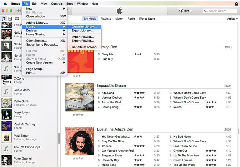 Let iTunes Organize your Library