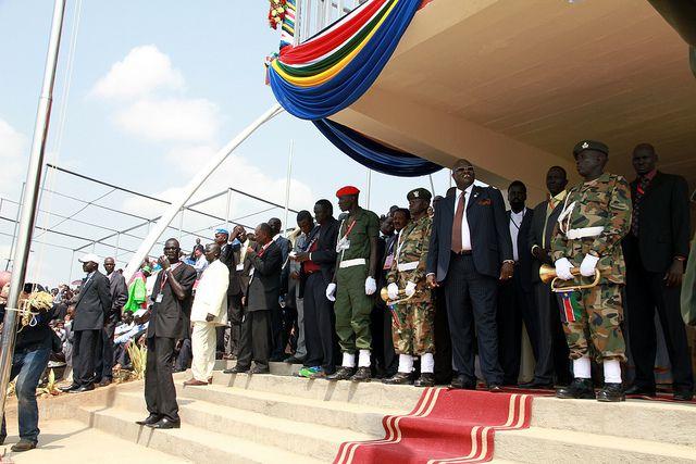 John Garang memorial with the vice president