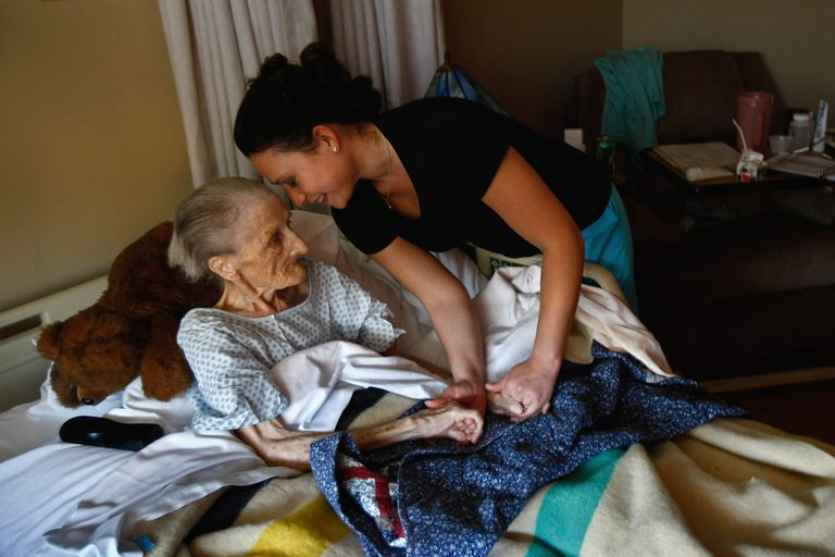 A hospice patient who is terminally ill.