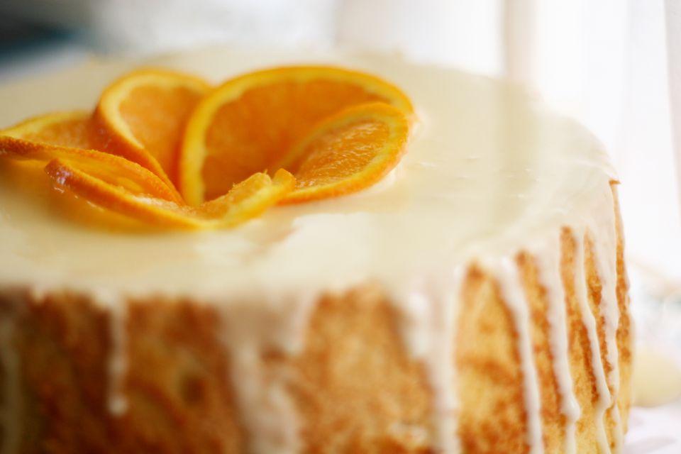 Angel Food Cake With Glaze