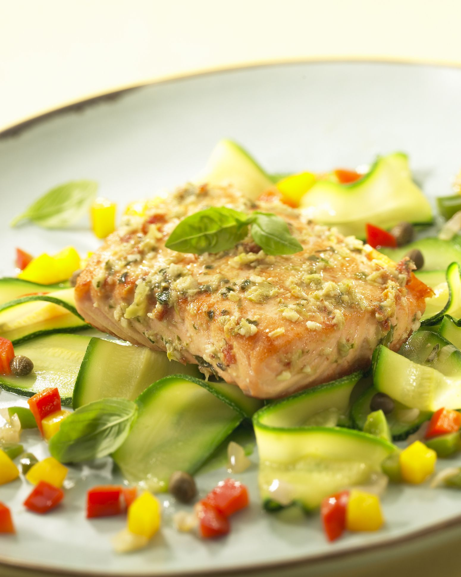 Kosher lemon garlic baked salmon fillet recipe a cookbook authors favorite pistachio crusted salmon ccuart Image collections