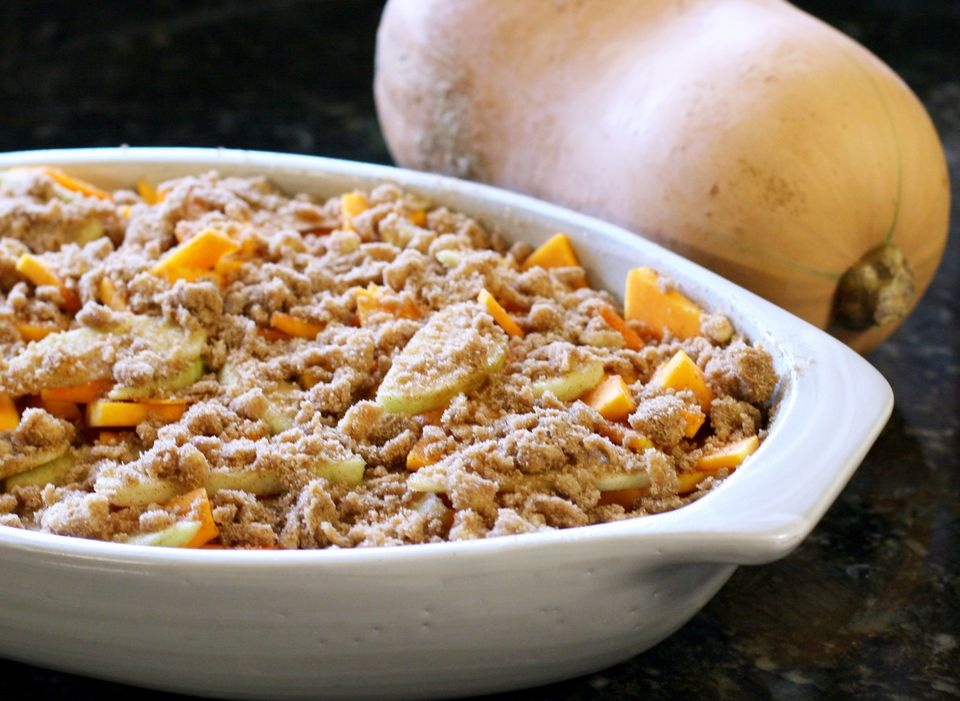 Butternut squash and apple casserole