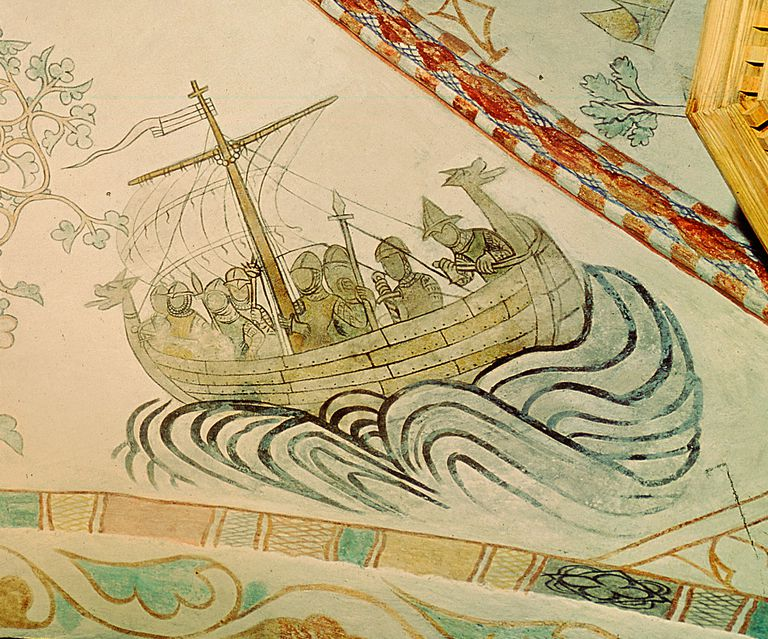 Viking Ship with Dragon Prow, 14th Century (Detail)