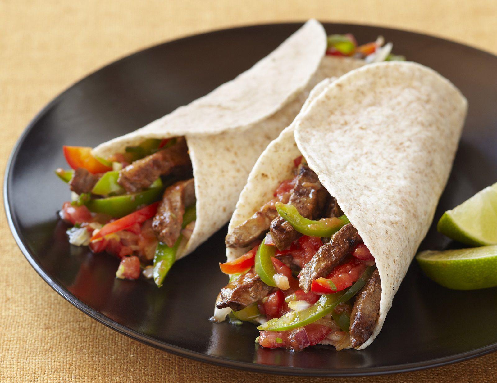 Healthy Chicken or Beef Fajita Recipe
