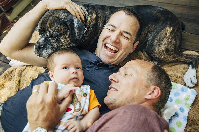 Same-sex parents with child custody