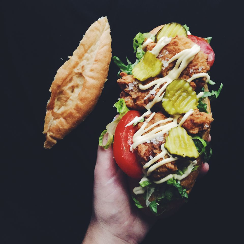 Chicken Po'boy Sandwich
