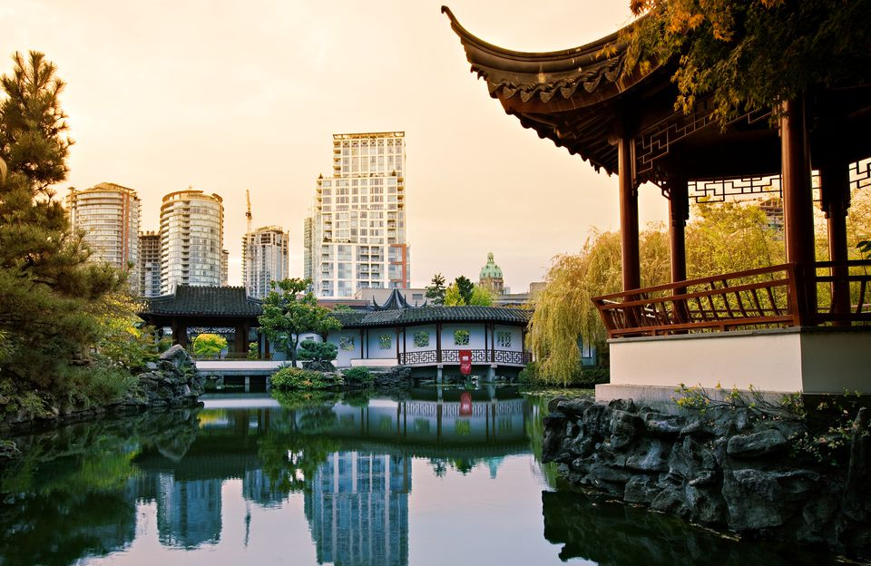 View of Vancouver from Dr. Sun Yen-Sat Classical Chinese Garden