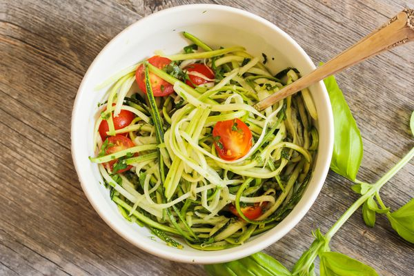 Zucchini Noodles pasta with vegetables