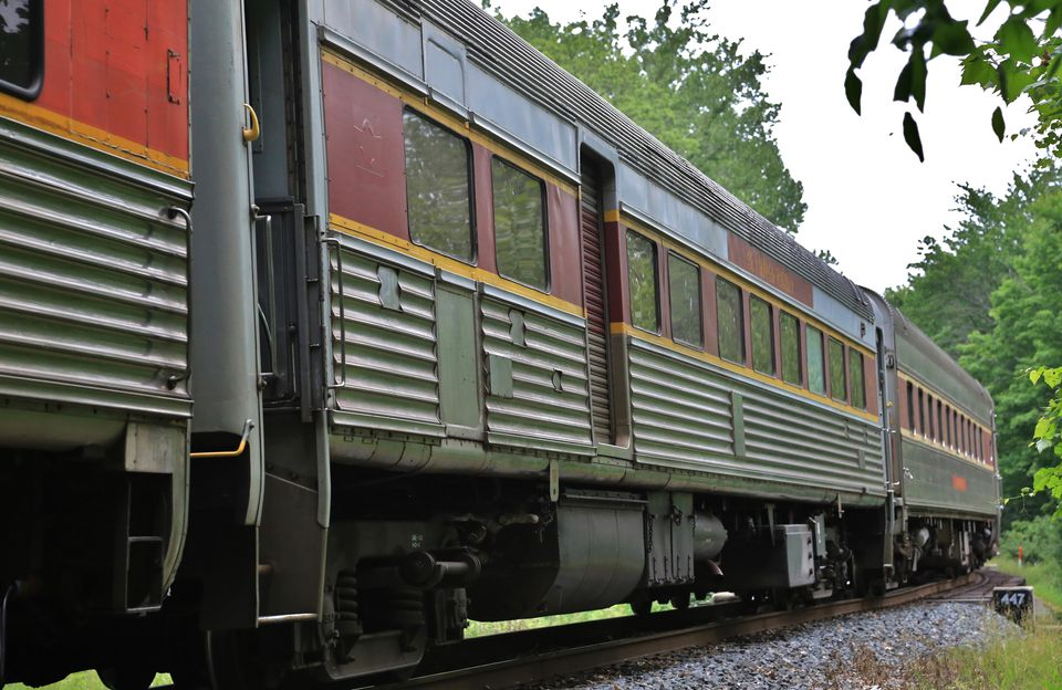 Historical passenger train carries visitors at the Cuyahoga Valley National Park