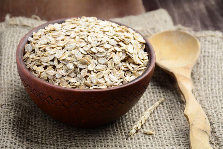 Rolled oats will help lower cholesterol.