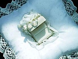 Wedding Pillow with Attached Ring Box