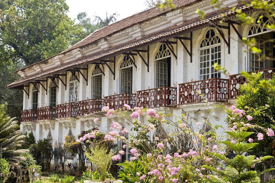 Fernandes wing of Braganza House, colonial era mansion in Goa.