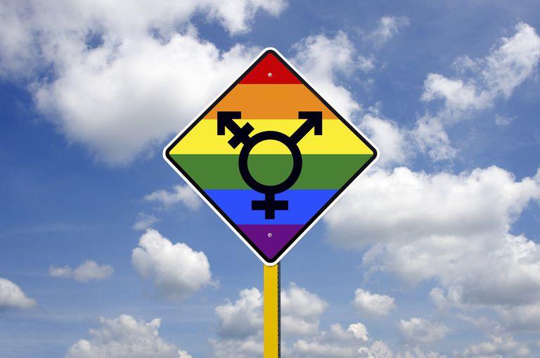 Transgénero LGBT señal de tráfico