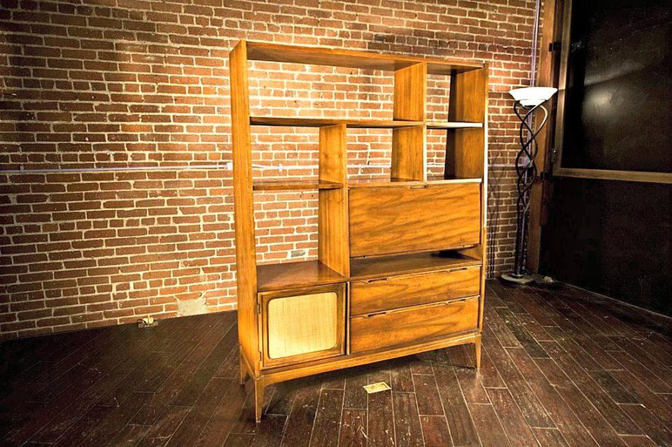 Vintage 1960's room divider bookcase
