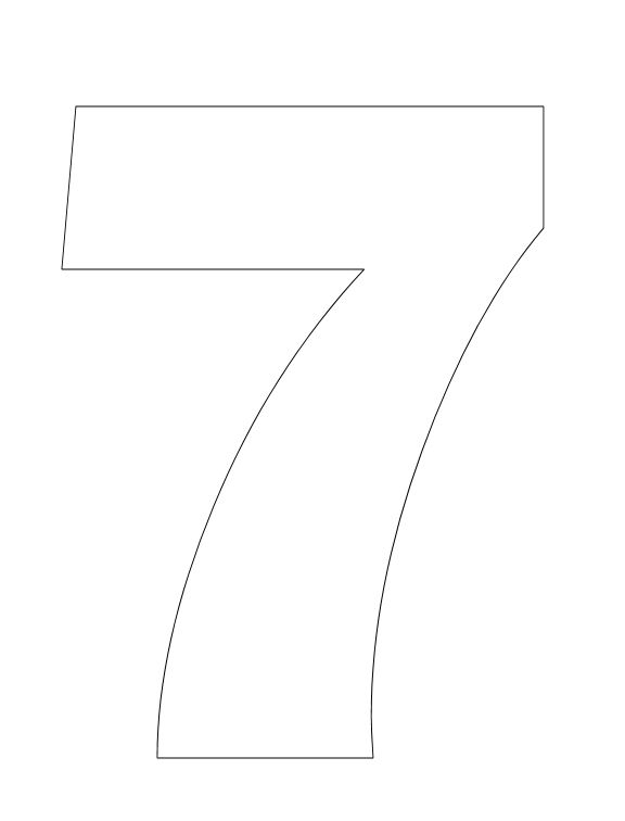Number pictures to color for Number 7 coloring page
