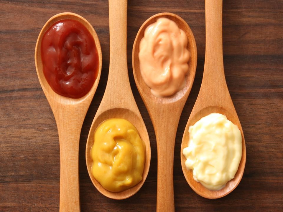 Condiments and spoons