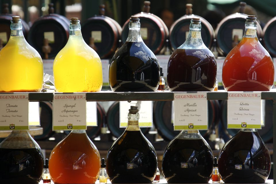 European Market Filled with Homemade Schnapps