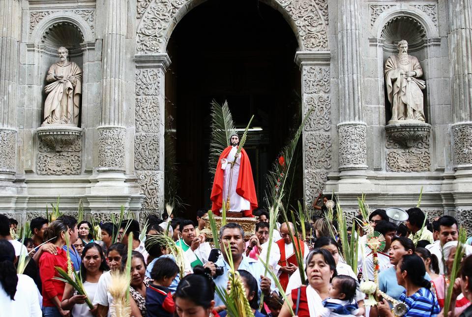 Semana Santa Easter Festival at Oaxaca Cathedral.