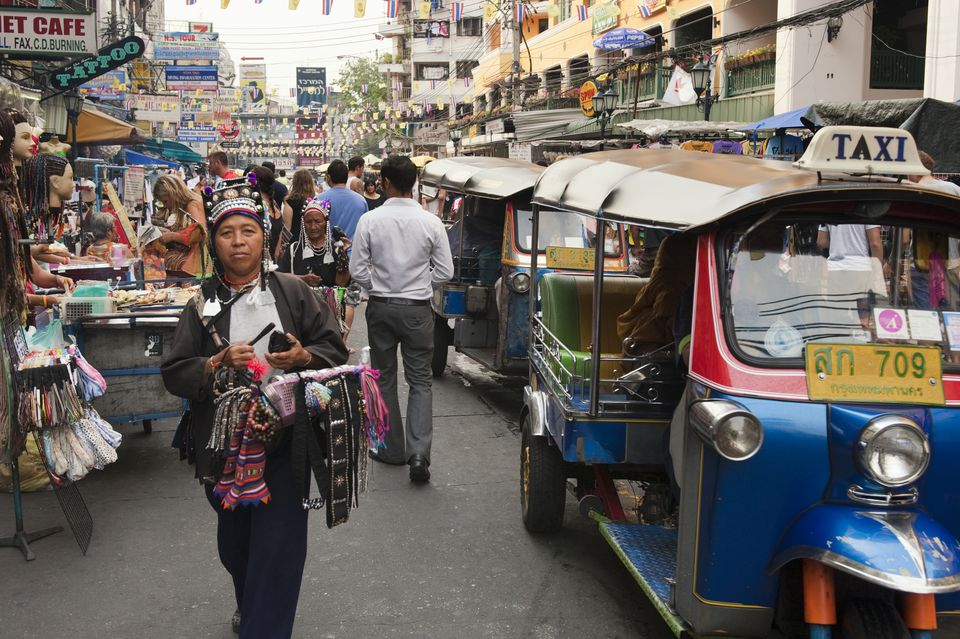 Khao San Road in Bangkok During the Day