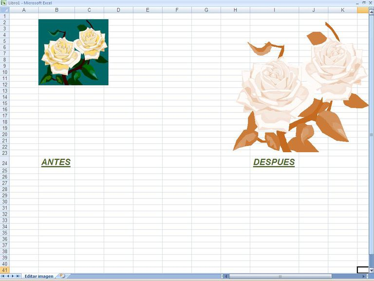 Editar imagenes en Excel