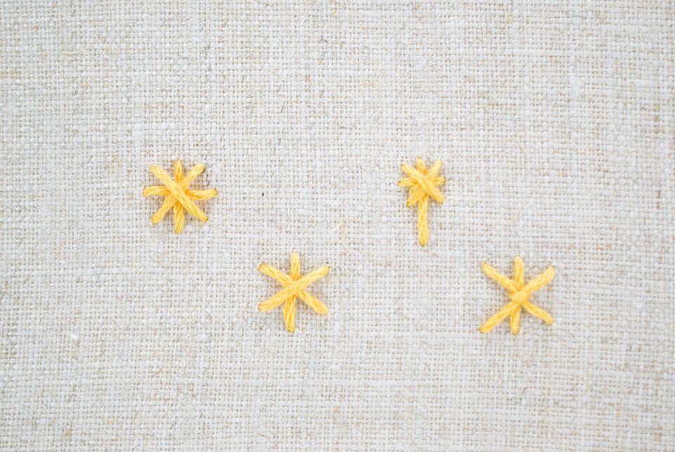 Star embroidery stitch