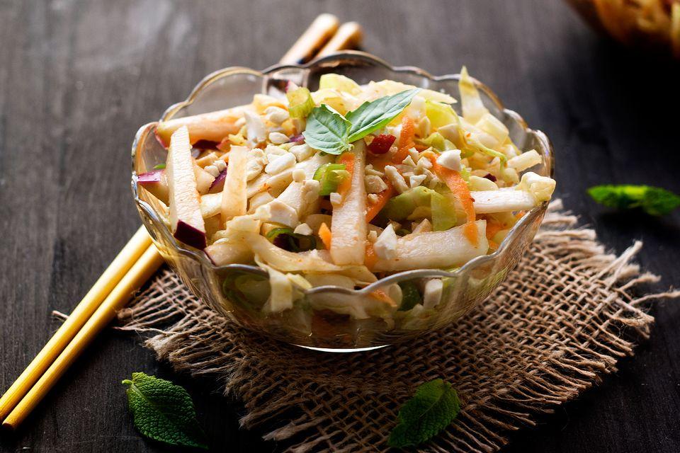 Thai Inspired Kohlrabi Coleslaw