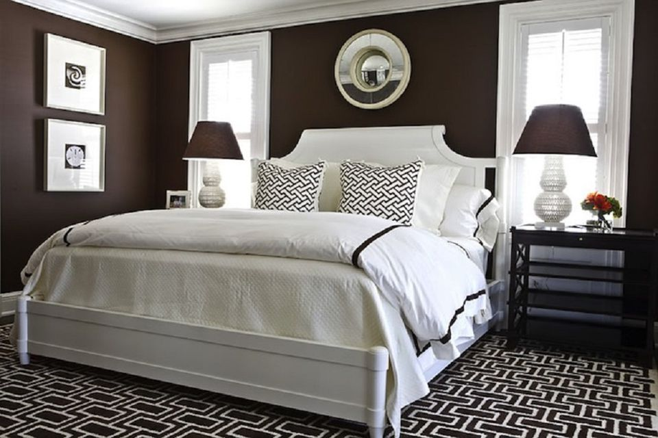 Decorating ideas for dark colored bedroom walls Dark brown walls bedroom