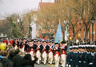 George Washington Parade in Old Town Alexandria