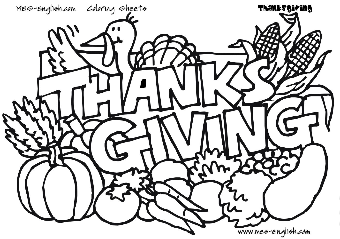 Uncategorized Black And White Coloring Pictures 217 thanksgiving coloring pages for kids