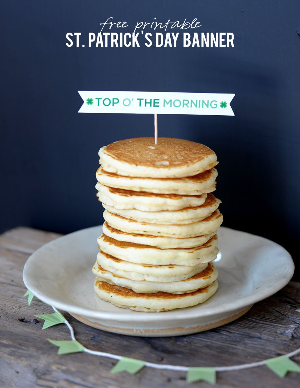 Top Of The Morning Breakfast Banner