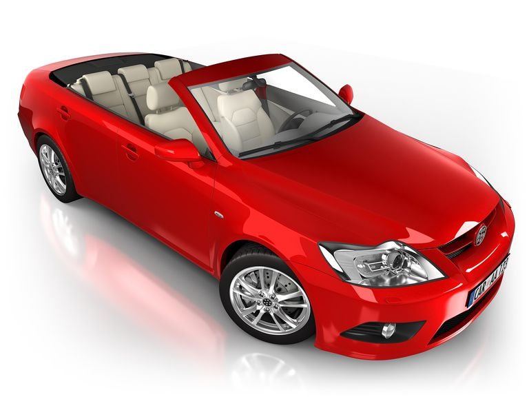 Image of a red convertible, illustrating car sweepstakes at About.com.