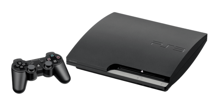 PS3 console and controller