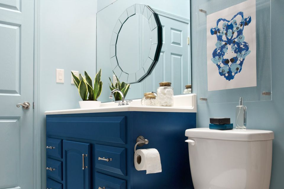 blue bathroom maker 1000