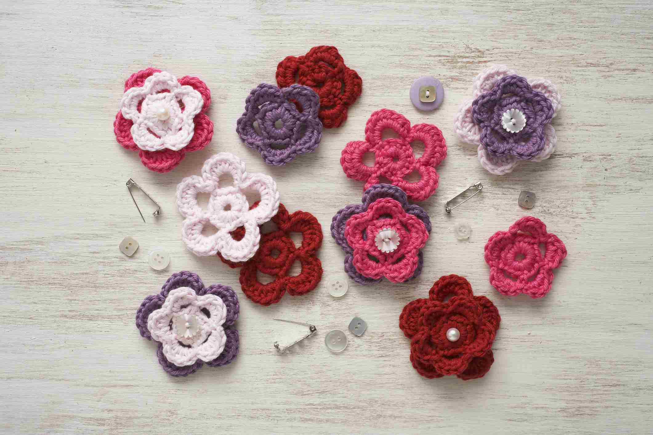 9 free crochet flower patterns izmirmasajfo Image collections