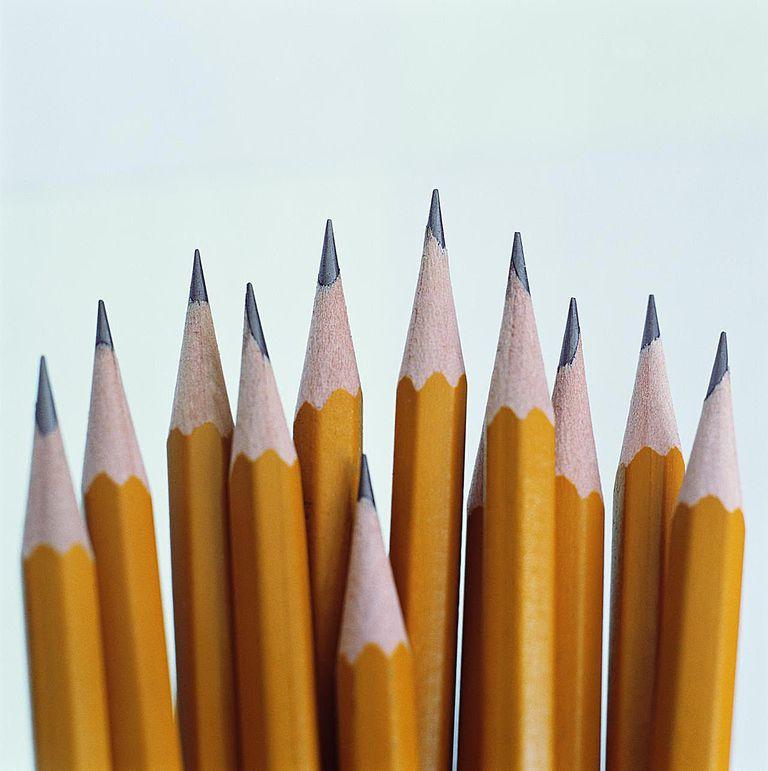 Sharpened pencils, close-up