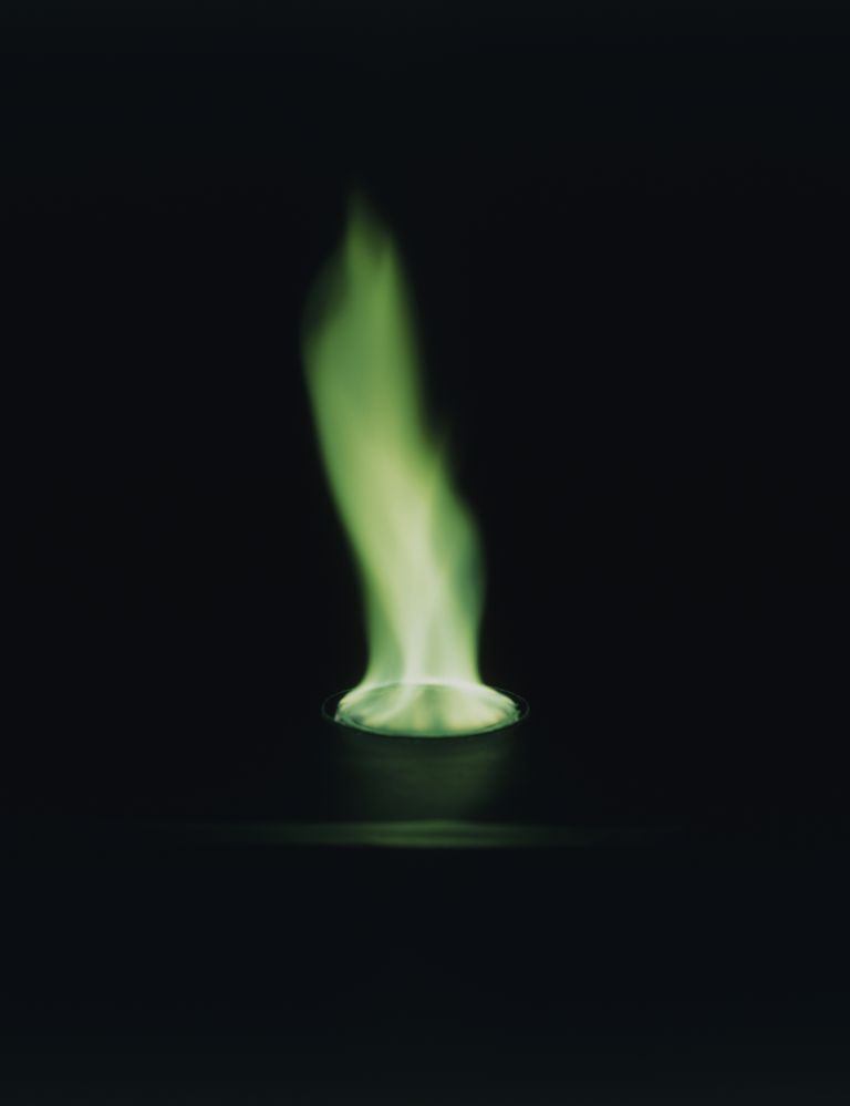 This is the green flame test result from a copper(II) salt.