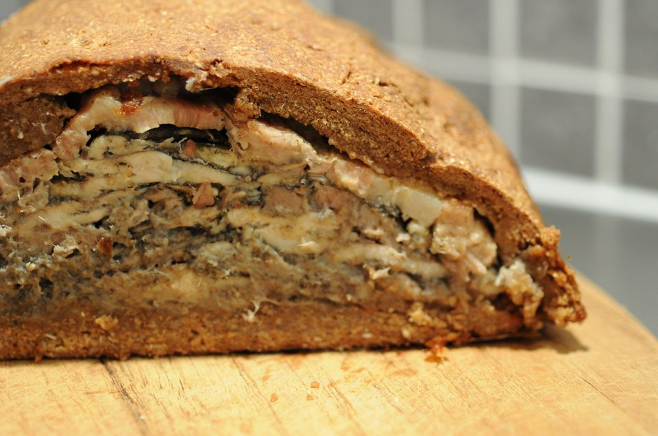 Kalakukko is a traditional food from Finland made from fish baked inside a loaf of bread