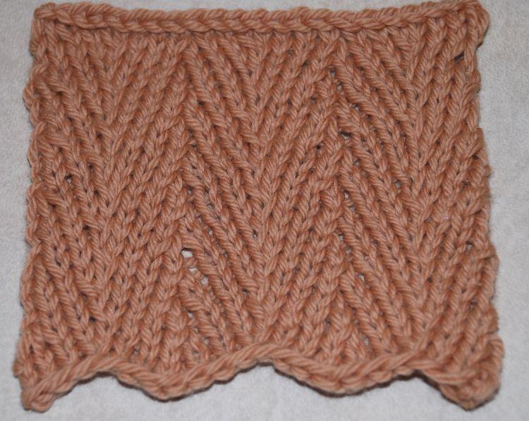 Learn To Knit The Herringbone Stitch Pattern