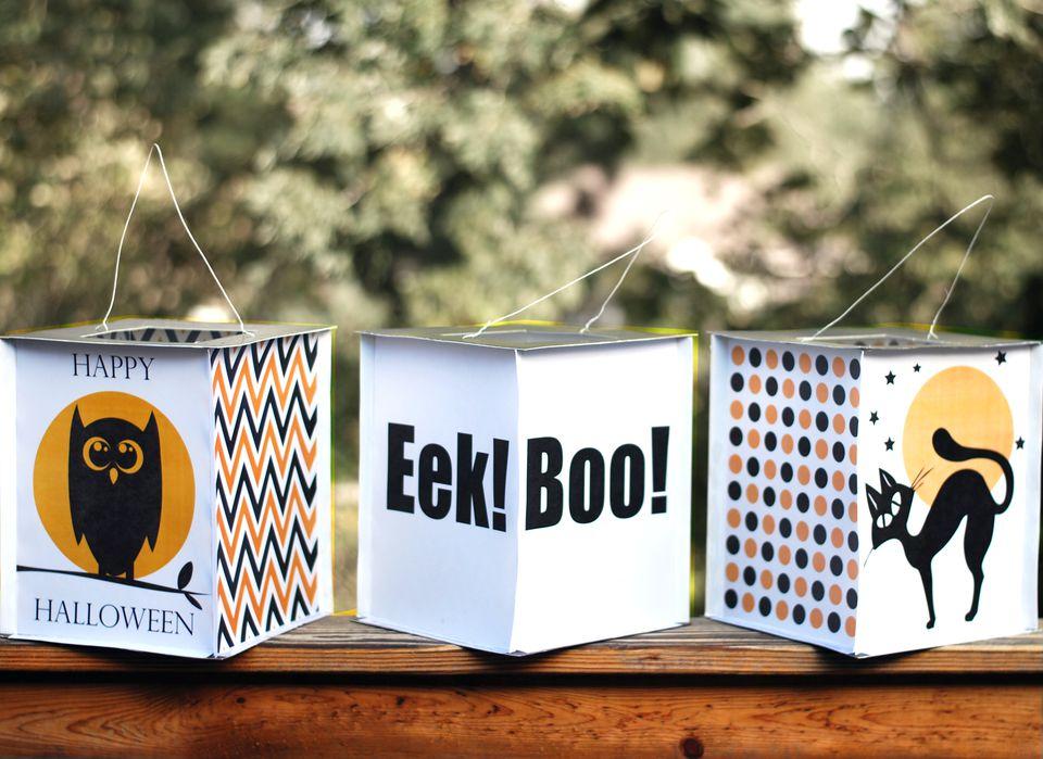 Halloween Paper Lantern Craft