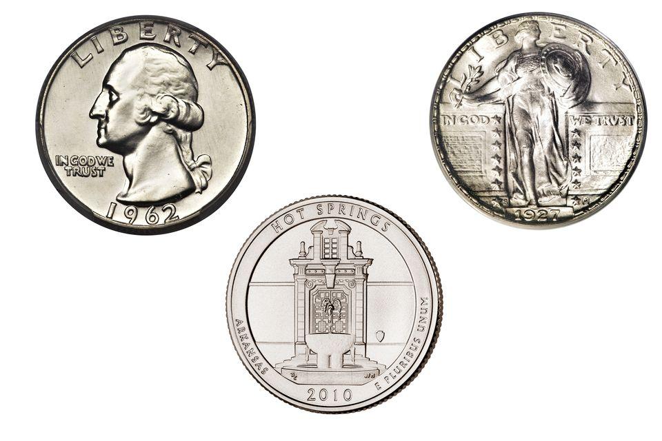 Three Different United States Quarter Dollars