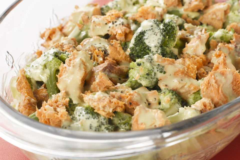 salmon casserole with white sauce